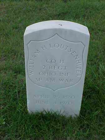 LOUTSENHIZER (VETERAN SAW), WILLIAM H - Pulaski County, Arkansas | WILLIAM H LOUTSENHIZER (VETERAN SAW) - Arkansas Gravestone Photos