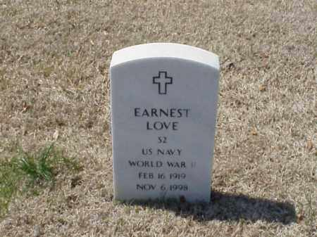 LOVE (VETERAN WWII), EARNEST - Pulaski County, Arkansas | EARNEST LOVE (VETERAN WWII) - Arkansas Gravestone Photos