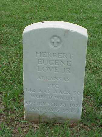 LOVE, JR (VETERAN WWII), HERBERT EUGENE - Pulaski County, Arkansas | HERBERT EUGENE LOVE, JR (VETERAN WWII) - Arkansas Gravestone Photos