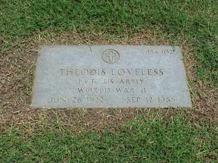LOVELESS (VETERAN WWII), THEODIS - Pulaski County, Arkansas | THEODIS LOVELESS (VETERAN WWII) - Arkansas Gravestone Photos