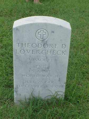 LOVERCHECK (VETERAN WWII), THEODORE D - Pulaski County, Arkansas | THEODORE D LOVERCHECK (VETERAN WWII) - Arkansas Gravestone Photos