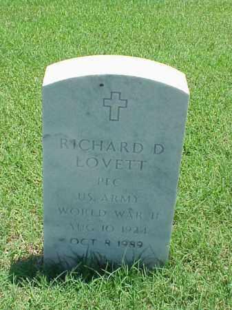 LOVETT (VETERAN WWII), RICHARD D - Pulaski County, Arkansas | RICHARD D LOVETT (VETERAN WWII) - Arkansas Gravestone Photos