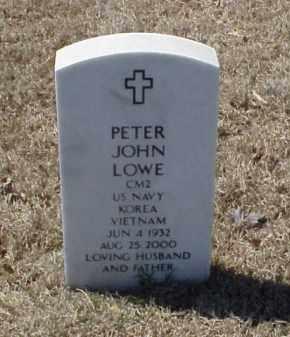 LOWE (VETERAN 2 WARS), PETER JOHN - Pulaski County, Arkansas   PETER JOHN LOWE (VETERAN 2 WARS) - Arkansas Gravestone Photos