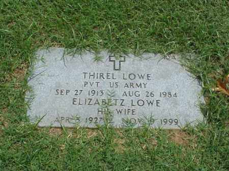 LOWE (VETERAN WWII), THIREL - Pulaski County, Arkansas | THIREL LOWE (VETERAN WWII) - Arkansas Gravestone Photos