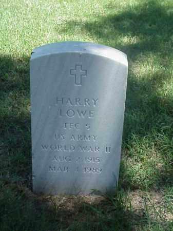 LOWE (VETERAN WWII), HARRY - Pulaski County, Arkansas | HARRY LOWE (VETERAN WWII) - Arkansas Gravestone Photos
