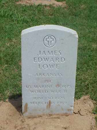 LOWE (VETERAN WWII), JAMES EDWARD - Pulaski County, Arkansas | JAMES EDWARD LOWE (VETERAN WWII) - Arkansas Gravestone Photos