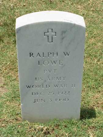 LOWE (VETERAN WWII), RALPH W - Pulaski County, Arkansas | RALPH W LOWE (VETERAN WWII) - Arkansas Gravestone Photos