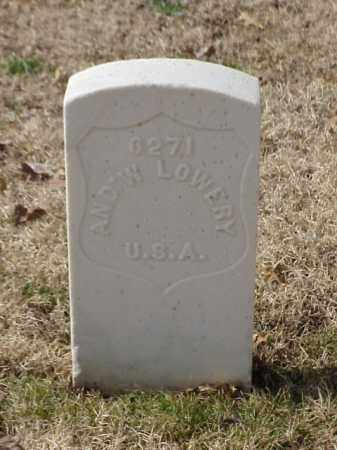 LOWERY (VETERAN UNION), AMDREW - Pulaski County, Arkansas | AMDREW LOWERY (VETERAN UNION) - Arkansas Gravestone Photos