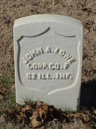LOWE (VETERAN UNION), JOHN A - Pulaski County, Arkansas | JOHN A LOWE (VETERAN UNION) - Arkansas Gravestone Photos