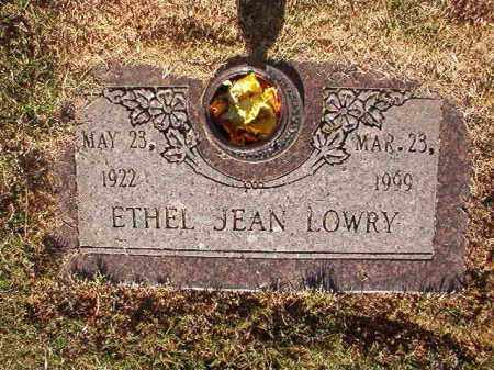 LOWRY, ETHEL JEAN - Pulaski County, Arkansas | ETHEL JEAN LOWRY - Arkansas Gravestone Photos