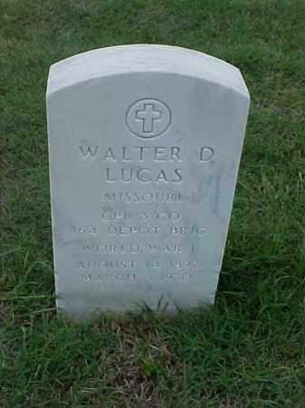 LUCAS (VETERAN WWI), WALTER D - Pulaski County, Arkansas | WALTER D LUCAS (VETERAN WWI) - Arkansas Gravestone Photos