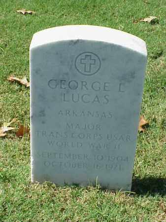 LUCAS (VETERAN WWII), GEORGE L - Pulaski County, Arkansas | GEORGE L LUCAS (VETERAN WWII) - Arkansas Gravestone Photos
