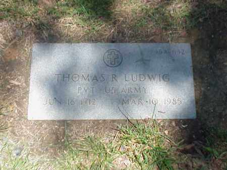 LUDWIG (VETERAN), THOMAS R - Pulaski County, Arkansas | THOMAS R LUDWIG (VETERAN) - Arkansas Gravestone Photos