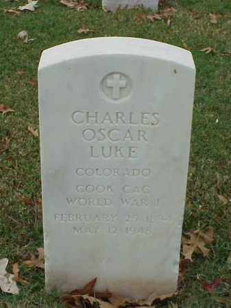 LUKE (VETERAN WWI), CHARLES OSCAR - Pulaski County, Arkansas | CHARLES OSCAR LUKE (VETERAN WWI) - Arkansas Gravestone Photos