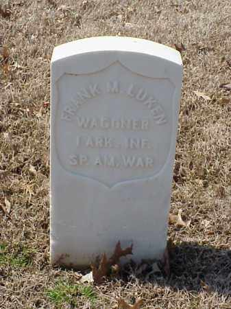 LUKEN (VETERAN SAW), FRANK M - Pulaski County, Arkansas | FRANK M LUKEN (VETERAN SAW) - Arkansas Gravestone Photos