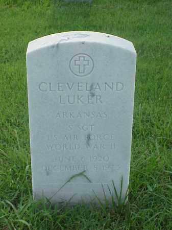 LUKER (VETERAN WWII), CLEVELAND - Pulaski County, Arkansas | CLEVELAND LUKER (VETERAN WWII) - Arkansas Gravestone Photos