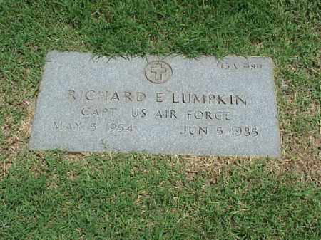 LUMPKIN (VETERAN), RICHARD E - Pulaski County, Arkansas | RICHARD E LUMPKIN (VETERAN) - Arkansas Gravestone Photos