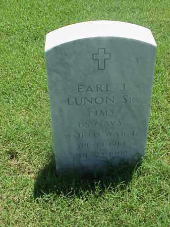 LUNON, SR (VETERAN WWII), EARL J - Pulaski County, Arkansas | EARL J LUNON, SR (VETERAN WWII) - Arkansas Gravestone Photos
