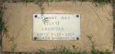 LUNSFORD, ANTHONY RAY - Pulaski County, Arkansas | ANTHONY RAY LUNSFORD - Arkansas Gravestone Photos