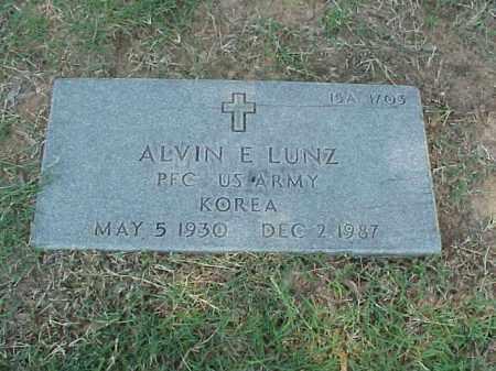 LUNZ (VETERAN KOR), ALVIN E - Pulaski County, Arkansas | ALVIN E LUNZ (VETERAN KOR) - Arkansas Gravestone Photos