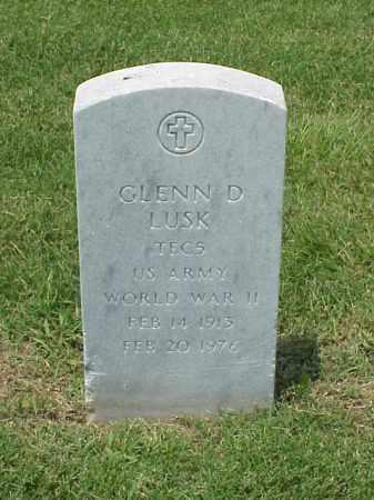 LUSK (VETERAN WWII), GLENN D - Pulaski County, Arkansas | GLENN D LUSK (VETERAN WWII) - Arkansas Gravestone Photos