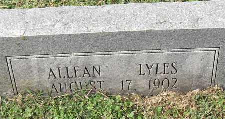 LYLES, ALLEAN - Pulaski County, Arkansas | ALLEAN LYLES - Arkansas Gravestone Photos