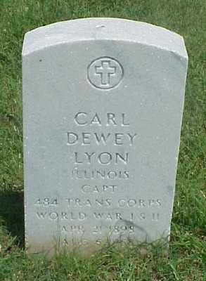 LYON (VETERAN 2 WARS), CARL DEWEY - Pulaski County, Arkansas | CARL DEWEY LYON (VETERAN 2 WARS) - Arkansas Gravestone Photos