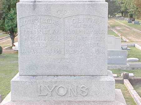 LYONS, OLIVIA - Pulaski County, Arkansas | OLIVIA LYONS - Arkansas Gravestone Photos