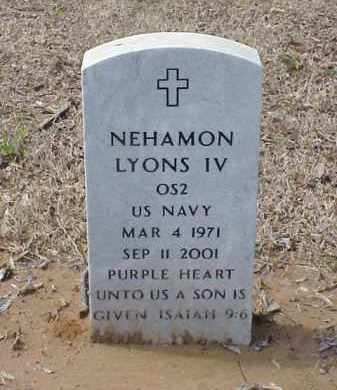 LYONS IV  (VETERAN), NEHAMON - Pulaski County, Arkansas | NEHAMON LYONS IV  (VETERAN) - Arkansas Gravestone Photos