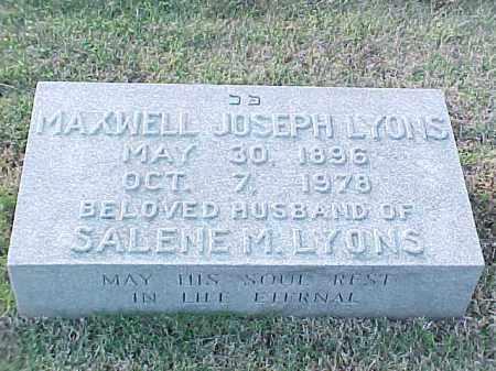 LYONS, MAXWELL JOSEPH - Pulaski County, Arkansas | MAXWELL JOSEPH LYONS - Arkansas Gravestone Photos