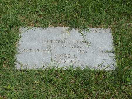 LYONS, SIMBE L - Pulaski County, Arkansas | SIMBE L LYONS - Arkansas Gravestone Photos