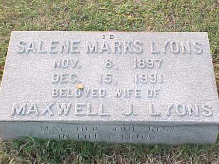 LYONS, SALENE - Pulaski County, Arkansas | SALENE LYONS - Arkansas Gravestone Photos