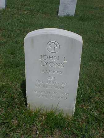 LYONS (VETERAN WWI), JOHN L - Pulaski County, Arkansas | JOHN L LYONS (VETERAN WWI) - Arkansas Gravestone Photos