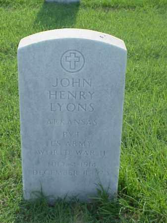 LYONS (VETERAN WWII), JOHN HENRY - Pulaski County, Arkansas | JOHN HENRY LYONS (VETERAN WWII) - Arkansas Gravestone Photos