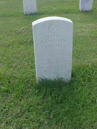 LYONS (VETERAN WWII), SETH CARLTON - Pulaski County, Arkansas | SETH CARLTON LYONS (VETERAN WWII) - Arkansas Gravestone Photos