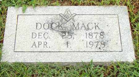 MACK, DOCK - Pulaski County, Arkansas | DOCK MACK - Arkansas Gravestone Photos