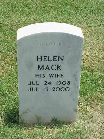 MACK, HELEN - Pulaski County, Arkansas | HELEN MACK - Arkansas Gravestone Photos