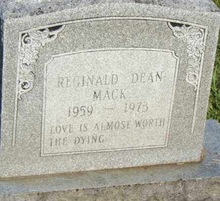 MACK, REGINALD DEAN - Pulaski County, Arkansas | REGINALD DEAN MACK - Arkansas Gravestone Photos