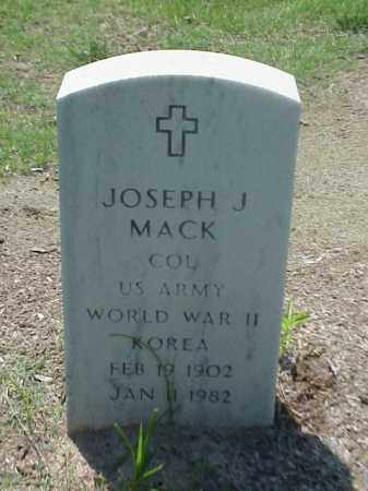 MACK (VETERAN 2 WARS), JOSPEH J - Pulaski County, Arkansas | JOSPEH J MACK (VETERAN 2 WARS) - Arkansas Gravestone Photos