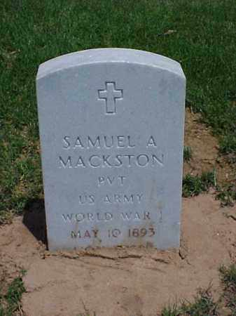 MACKSTON (VETERAN WWI), SAMUEL A - Pulaski County, Arkansas | SAMUEL A MACKSTON (VETERAN WWI) - Arkansas Gravestone Photos