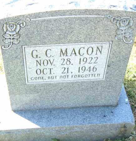 MACON, G. C. - Pulaski County, Arkansas | G. C. MACON - Arkansas Gravestone Photos