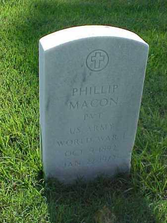 MACON (VETERAN WWI), PHILLIP - Pulaski County, Arkansas | PHILLIP MACON (VETERAN WWI) - Arkansas Gravestone Photos