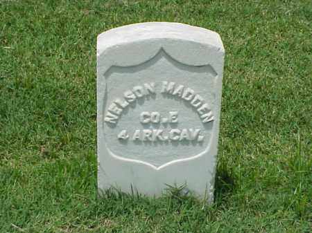 MADDEN (VETERAN UNION), NELSON - Pulaski County, Arkansas | NELSON MADDEN (VETERAN UNION) - Arkansas Gravestone Photos