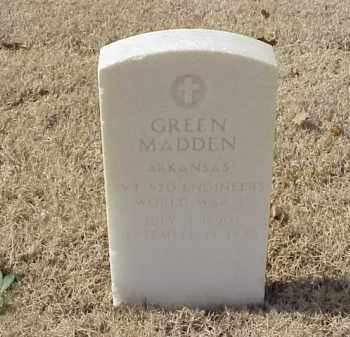 MADDEN (VETERAN WWI), GREEN - Pulaski County, Arkansas | GREEN MADDEN (VETERAN WWI) - Arkansas Gravestone Photos