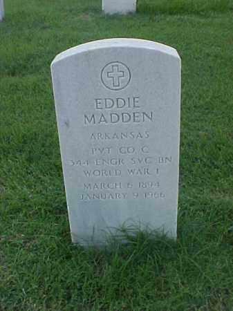 MADDEN (VETERAN WWII), EDDIE - Pulaski County, Arkansas | EDDIE MADDEN (VETERAN WWII) - Arkansas Gravestone Photos