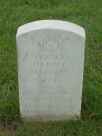 MADDOX (VETERAN WWII), OSCAR DANIEL - Pulaski County, Arkansas | OSCAR DANIEL MADDOX (VETERAN WWII) - Arkansas Gravestone Photos