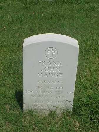 MADGE (VETERAN WWII), FRANK JOHN - Pulaski County, Arkansas | FRANK JOHN MADGE (VETERAN WWII) - Arkansas Gravestone Photos