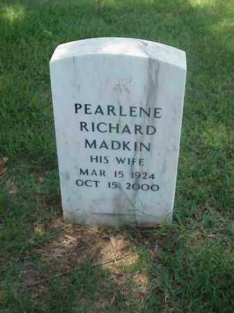 MADKIN, PEARLENE RICHARD - Pulaski County, Arkansas | PEARLENE RICHARD MADKIN - Arkansas Gravestone Photos