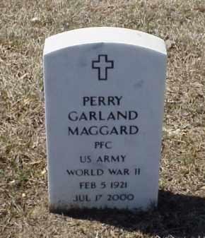 MAGGARD (VETERAN WWII), PERRY GARLAND - Pulaski County, Arkansas | PERRY GARLAND MAGGARD (VETERAN WWII) - Arkansas Gravestone Photos
