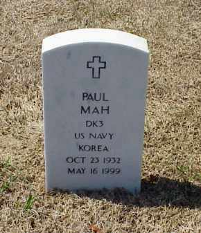 MAH (VETERAN KOR), PAUL - Pulaski County, Arkansas | PAUL MAH (VETERAN KOR) - Arkansas Gravestone Photos